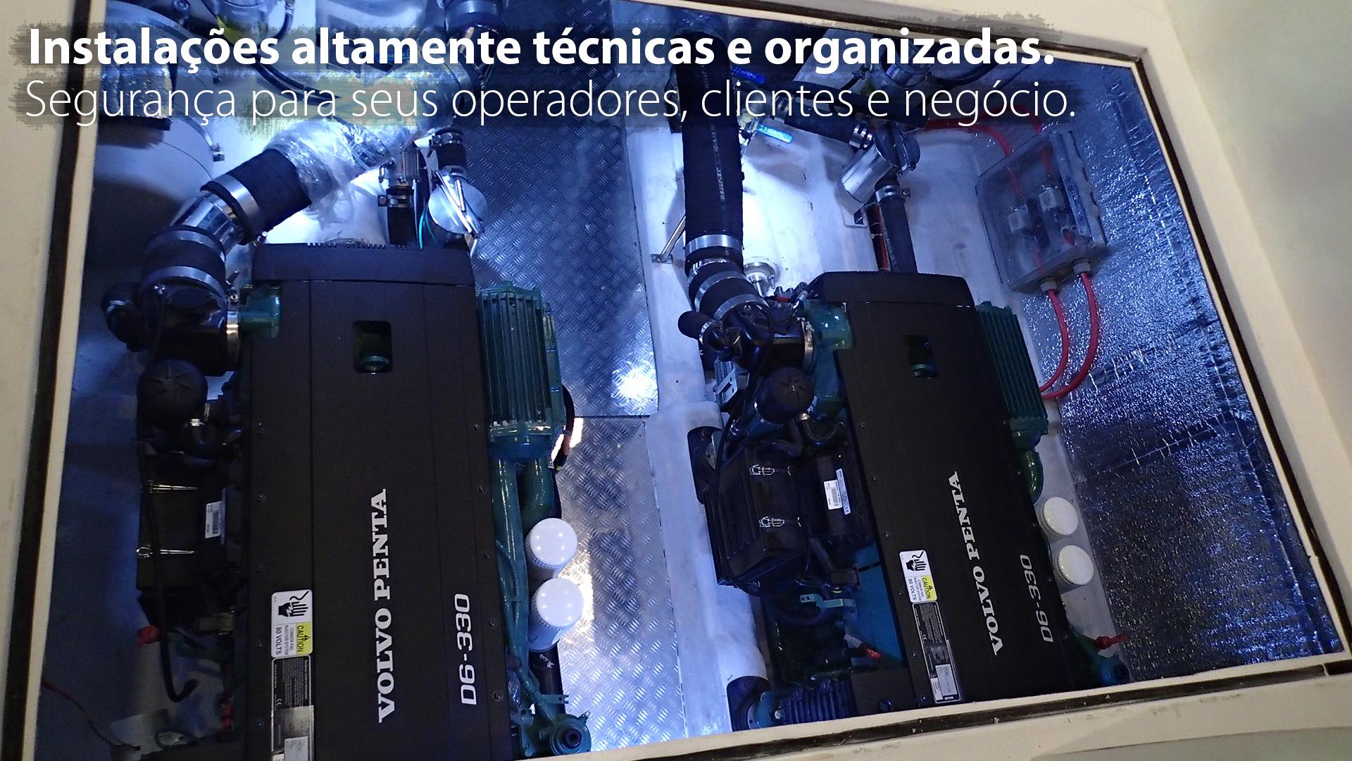 Instalações altamente técnicas e organizadas. Segurança para seus operadores, clientes e negócio.